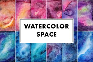 Watercolor Space Nebula