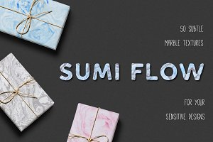 Sumi Flow. 50 Marble textures