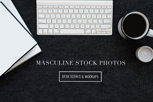 Masculine Stock Photos + iPad Mockup