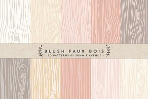 Blush Faux Bois Woodgrain papers