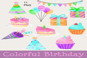 Colorful Birthday Clip Art