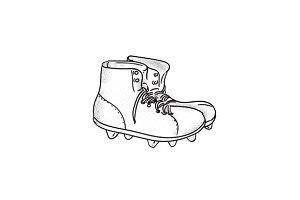 Vintage American Football Boots