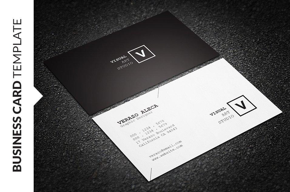 Clean Minimal Business Card ~ Business Card Templates ~ Creative ...