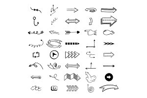 Vector illustration of arrow icons.