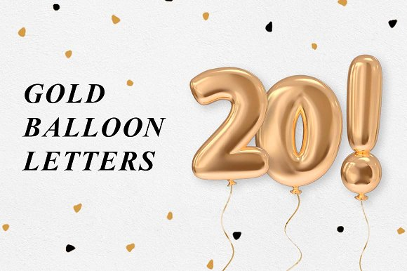 Gold Balloon Letters