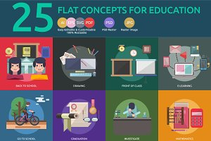 Flat Concepts for Education