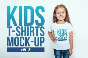 Kids T-Shirt Mock-Up Vol 3