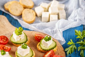 Healthy mini sandwiches