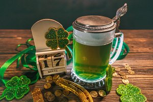 Still life of St. Patrick's Day