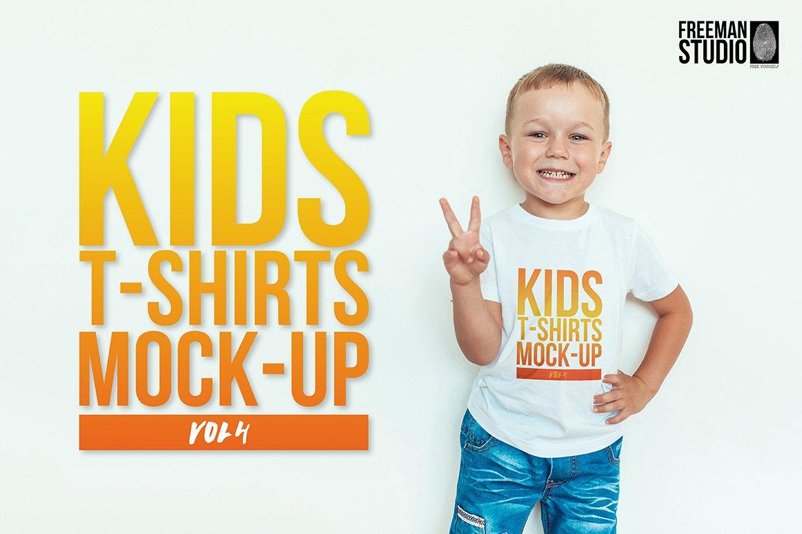 Kids t shirt mock up vol 4 product mockups creative market for T shirt mock ups