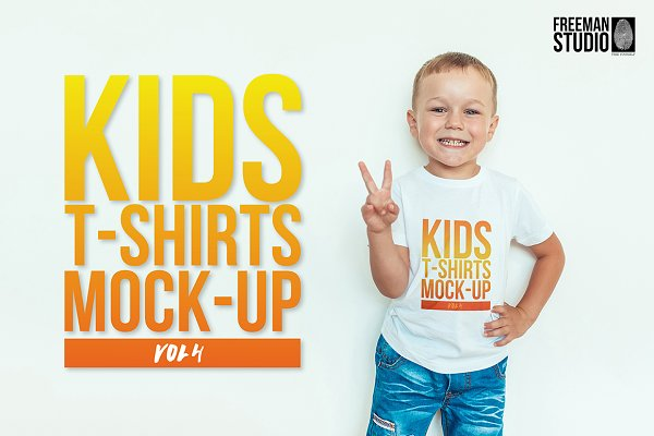Kids T-Shirt Mock-Up Vol 4