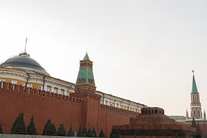 Mausoleum on Red Square, Moscow .