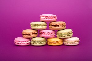 Pyramid of colorful macaroons