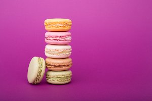 Tower of Sweet colorful macaron