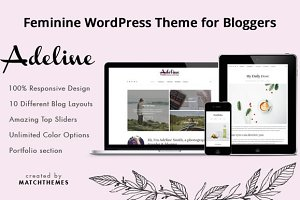 Adeline Feminine Clean Blog Theme