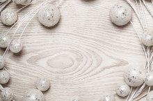 White christmas balls decoration on