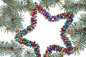 Isolated multicolored christmas star