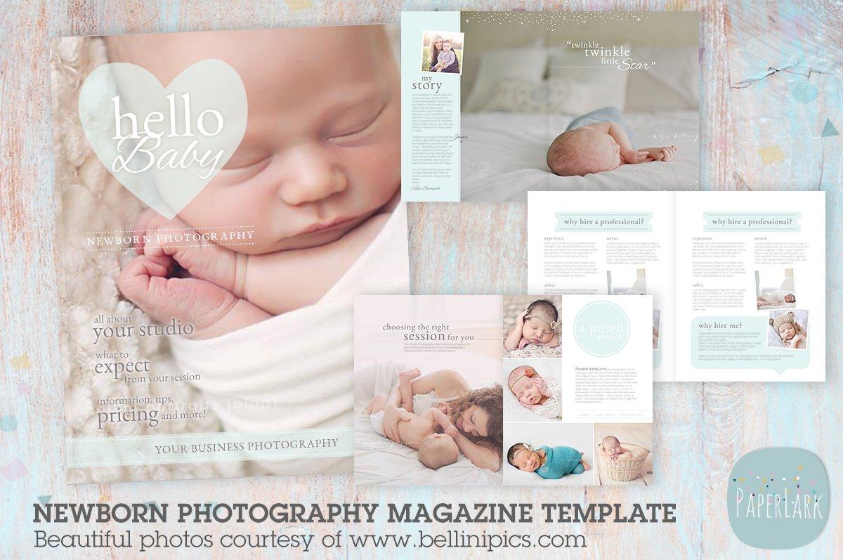PG012 Newborn Photography Magazine ~ Magazine Templates ~ Creative ...