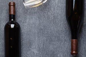 Wine on blackboard