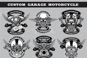 custom garage motorcycle
