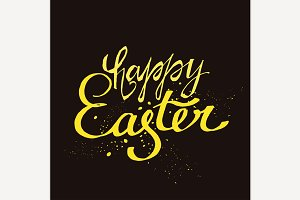 Easter Lettering Vector