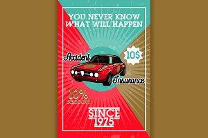 vintage accident insurance banner