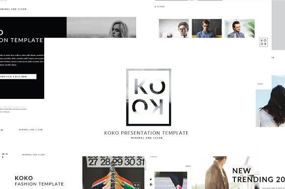 Koko mnml keynote template presentation templates creative market toneelgroepblik Choice Image