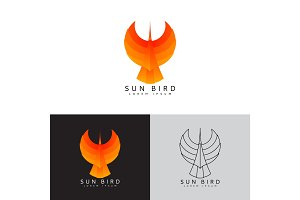 Template logo of sun bird