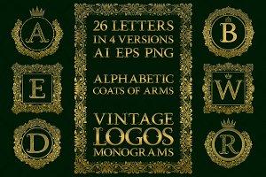 Vintage alphabetic logos