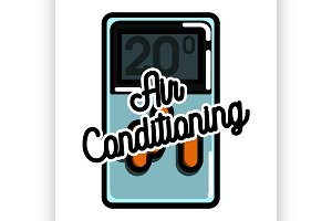 air conditioning emblem