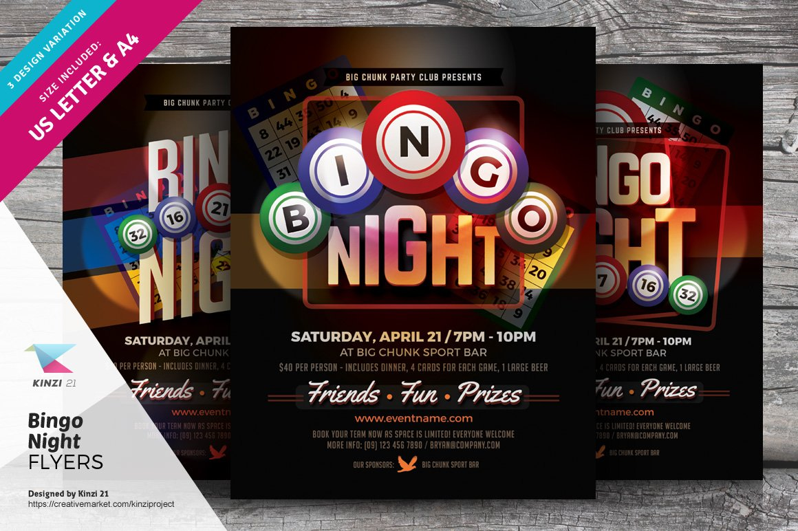 Bingo Night Flyer Templates ~ Flyer Templates ~ Creative ...