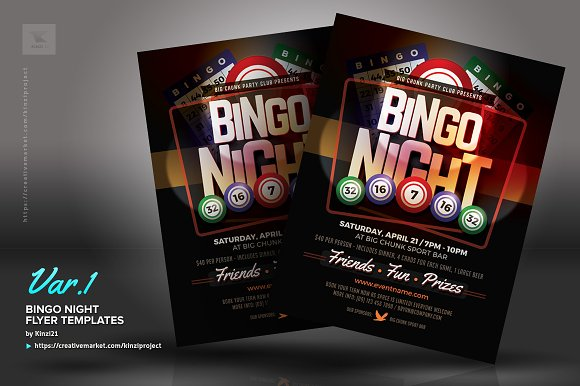Bingo Flyer Template Free Customizable Design Templates For Bingo