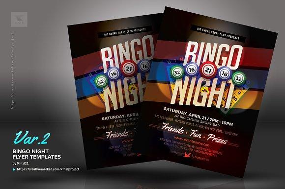 Bingo Night Flyer Templates Flyer Templates Creative Market