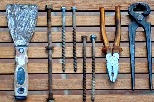 Old tools and screws