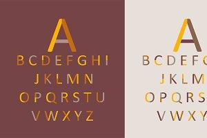 Font trendy design 2017.