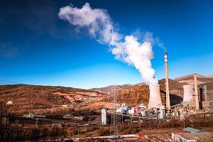 Pollution,Industrial chimneys