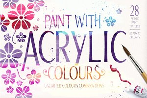 Acrylic Paint Effect