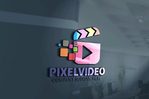 Pixel Video Logo