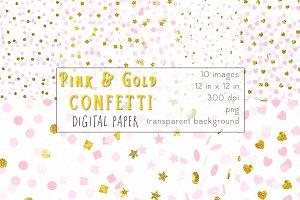 Pink & Gold Confetti