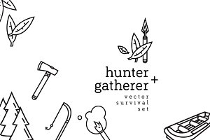 Hunter + Gatherer 18 Icon Set