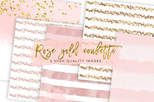 Rose Gold Foil Glitter Textures