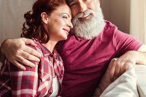 Happy mature couple in love