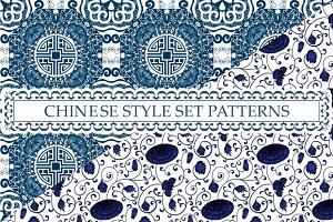 Patterns with chinese ornaments Ligh