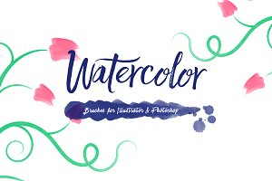 100 Watercolor Brushes