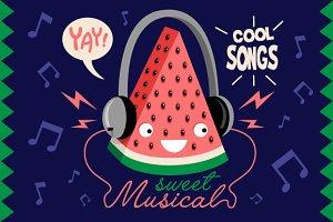 Handsome Watermelon Listen to Music