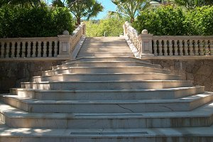 Marble stairs in the park