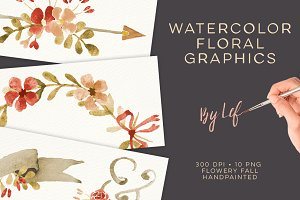 Floral Fall Watercolor graphics