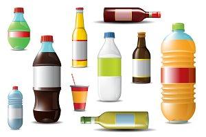 Bottles Vector Mockup
