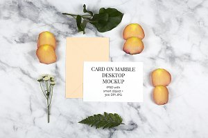 Card on Marble Desktop PDS Mockup