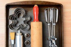 Closeup Cookie Baking Tools